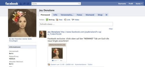 Joy Denalane @ Facebook